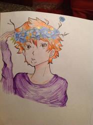 Hinata flowers by shadowthehedgehog275