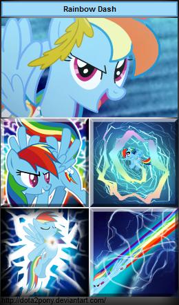 Rainbow Dash, the Storm Spirit by Dota2Pony