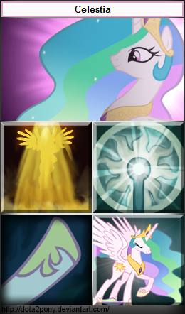 Princess Celestia, the Omniknight by Dota2Pony