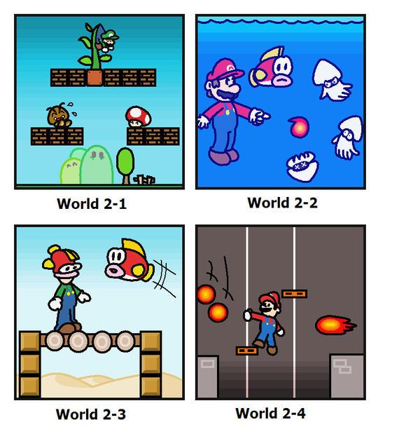 SMB: World 2 by minimariodrawer