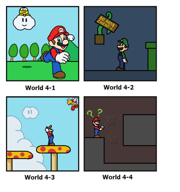 SMB: World 4 by minimariodrawer