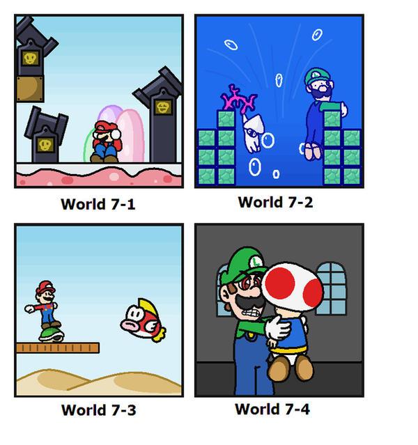 SMB: World 7 by minimariodrawer