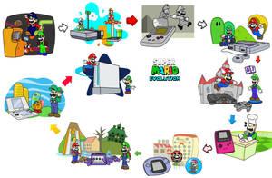 Super Mario Evolution by minimariodrawer