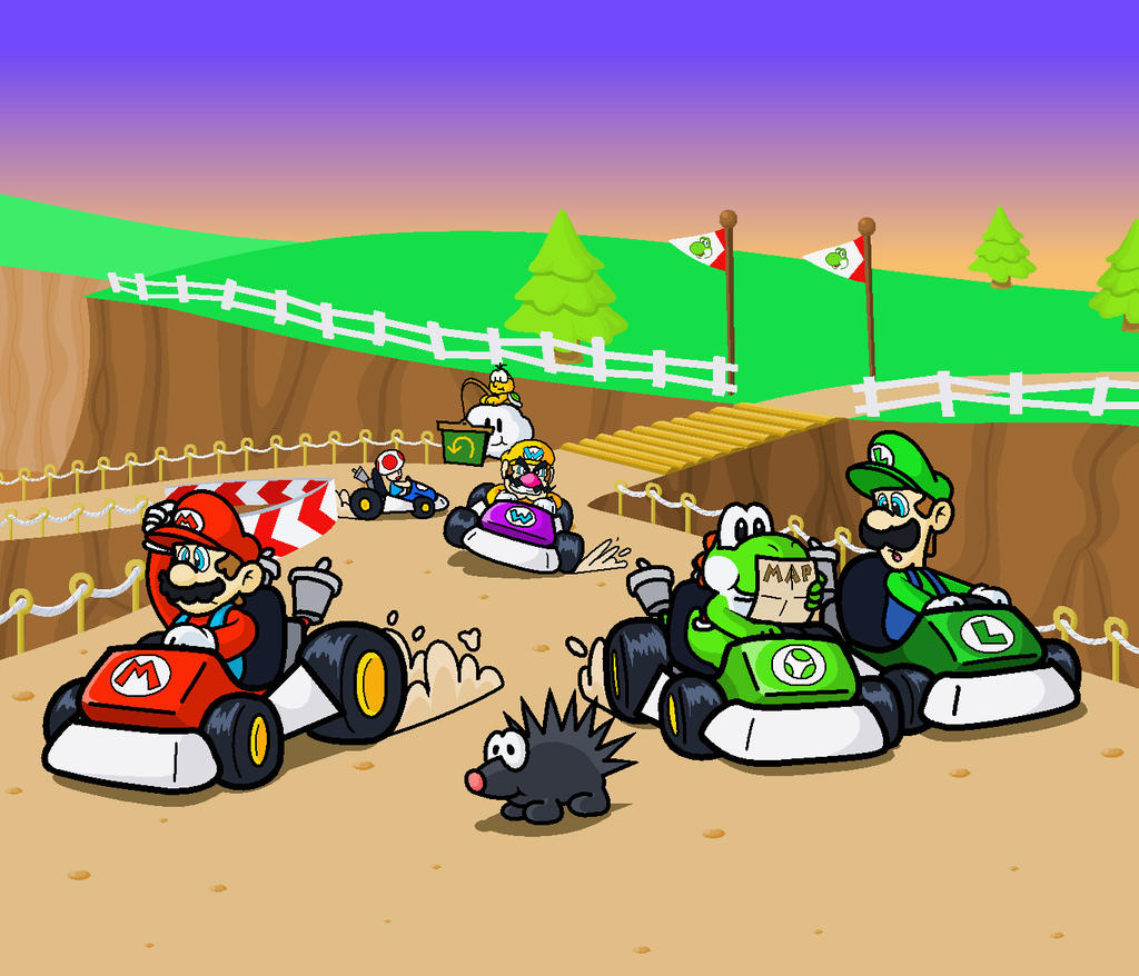 N64 Yoshi Valley By Minimariodrawer On Deviantart