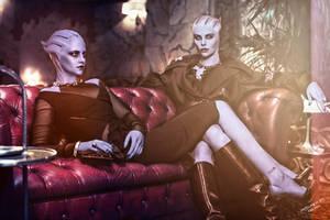 ME OC - Annalae and Nerell by DragonianFantasy