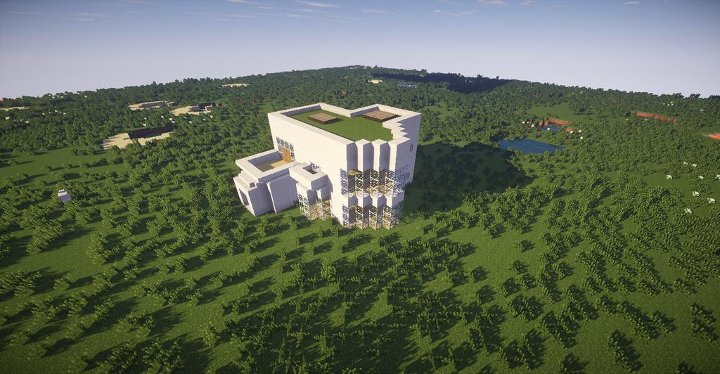 Minecraft maison moderne by medal1 on deviantart - Maison minecraft design ...