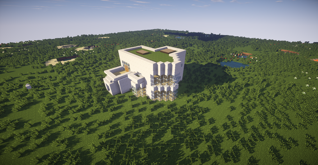 Minecraft maison moderne by medal1 on deviantart for Minecraft belle maison moderne