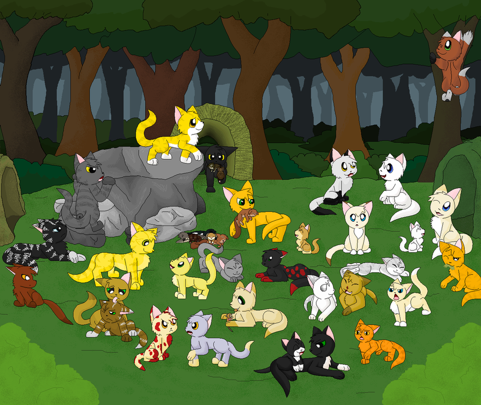 A Day In Thunderclan Camp By Cinderspark On DeviantArt