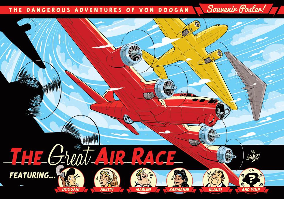 The Von Doogan Great Air Race Poster by STUDIOBLINKTWICE