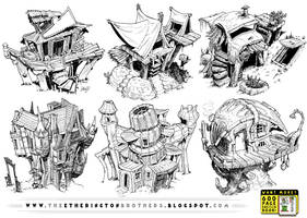 6 Creature House Concepts by EtheringtonBrothers