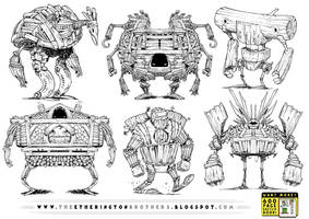 6 WOODEN ROBOT CONCEPTS by EtheringtonBrothers