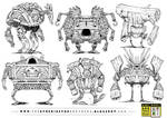 6 WOODEN ROBOT CONCEPTS