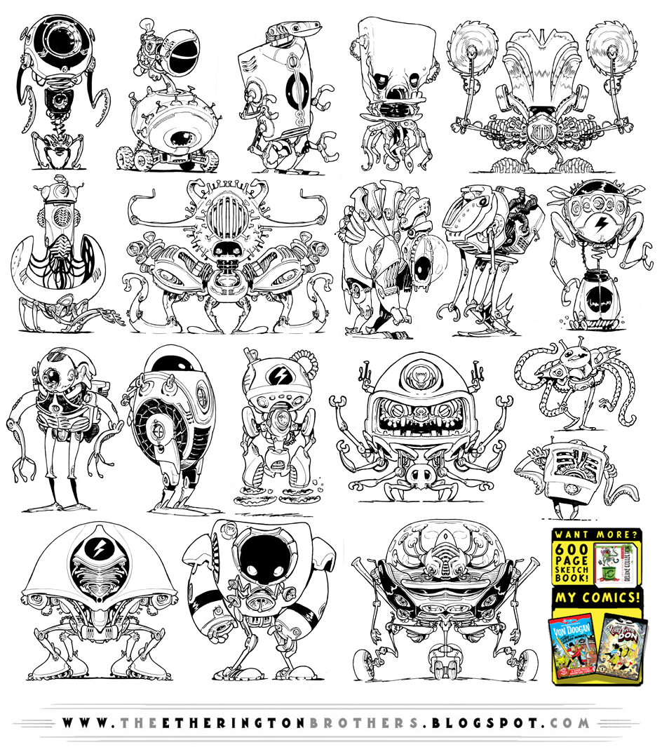 19 NEW Robot concepts by EtheringtonBrothers