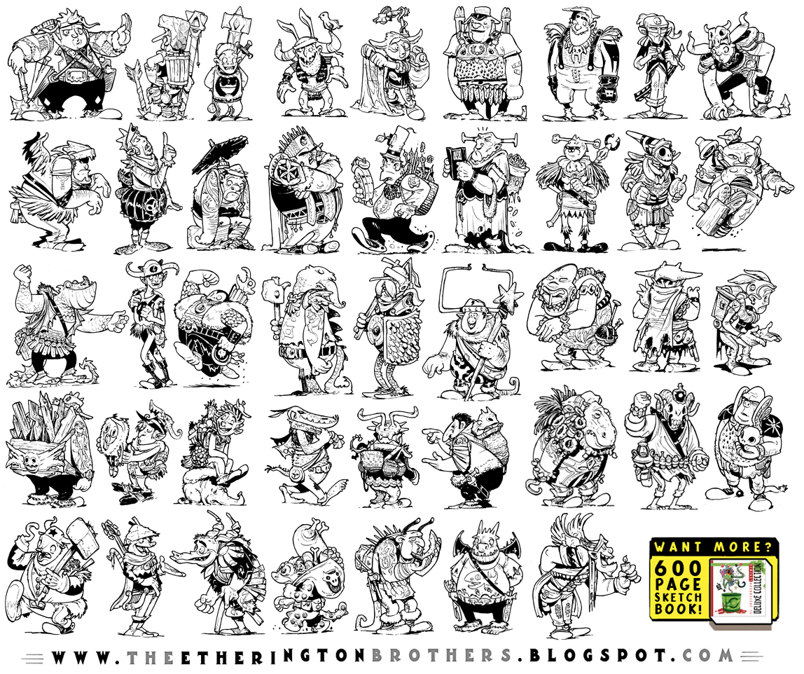 43 Fantasy Character Designs by EtheringtonBrothers