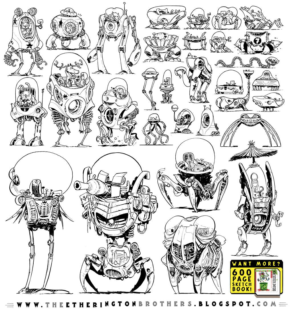 31 Robot Walker Concepts by EtheringtonBrothers