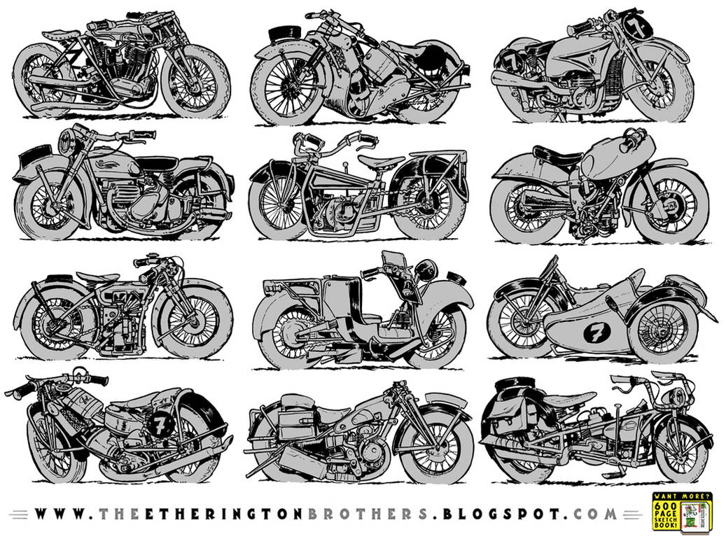 12 motorcycle concepts by EtheringtonBrothers
