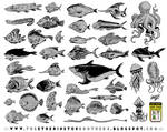 39 fish character designs