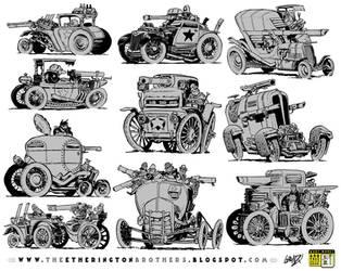 10 Weird War Machine concepts by EtheringtonBrothers