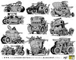 10 Weird War Machine concepts by EtheringtonBrothers