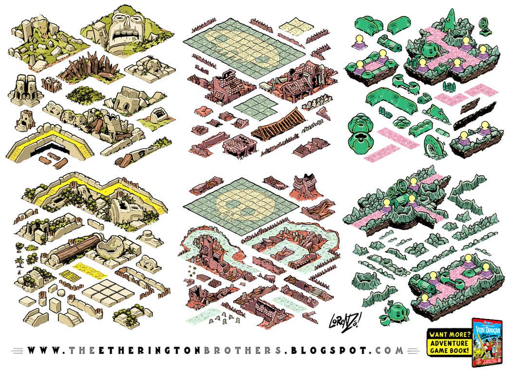 Von Doogan Danger Maze Game Assets Tileset part 1 by EtheringtonBrothers