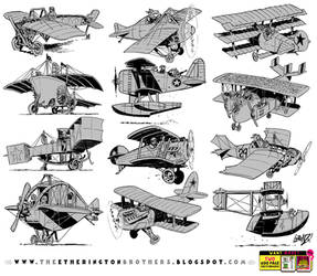 12 Flying Machine concepts by EtheringtonBrothers