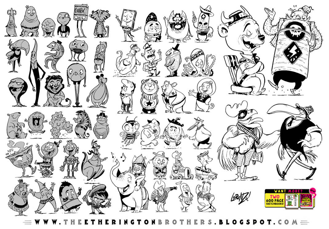 55 REALLY random character designs by EtheringtonBrothers