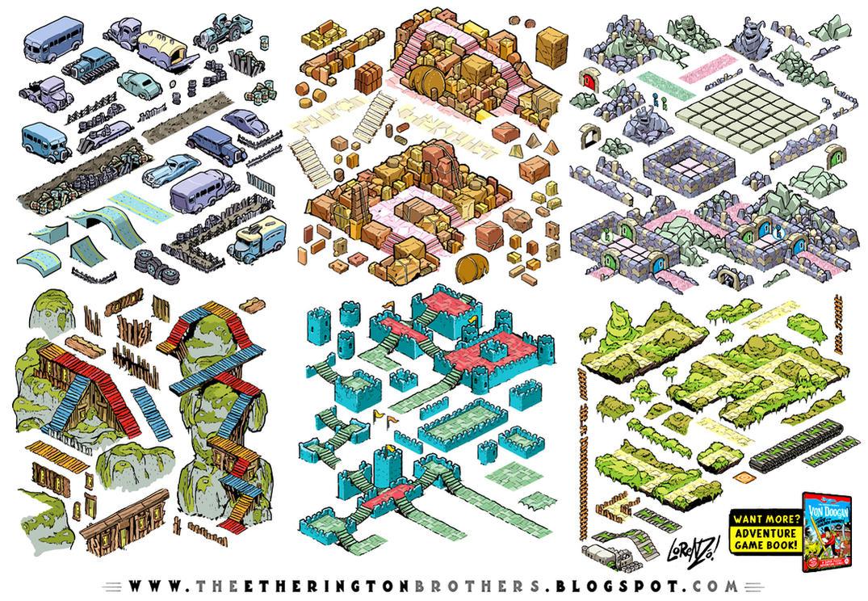Von Doogan Danger Maze Game Assets Tileset part 2 by STUDIOBLINKTWICE