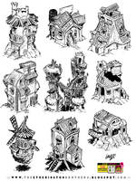 9 RPG building concepts by EtheringtonBrothers