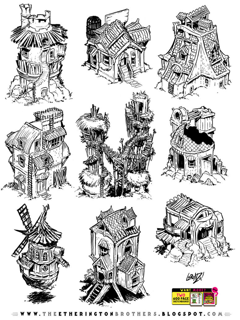 9 RPG building concepts by STUDIOBLINKTWICE