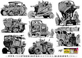 8 Wooden War Wagons by EtheringtonBrothers