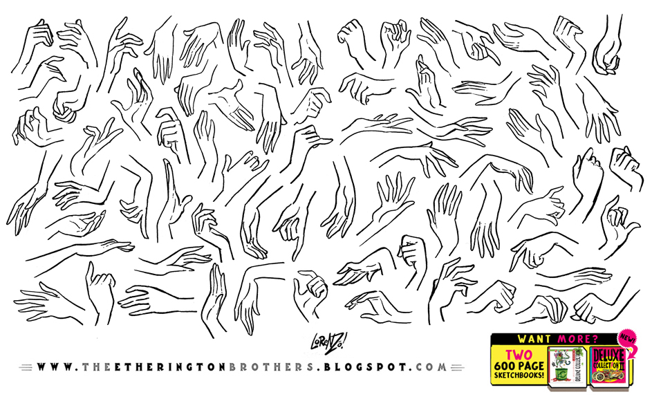 HAND REFERENCE PART 2 - FEMALE HANDS by EtheringtonBrothers