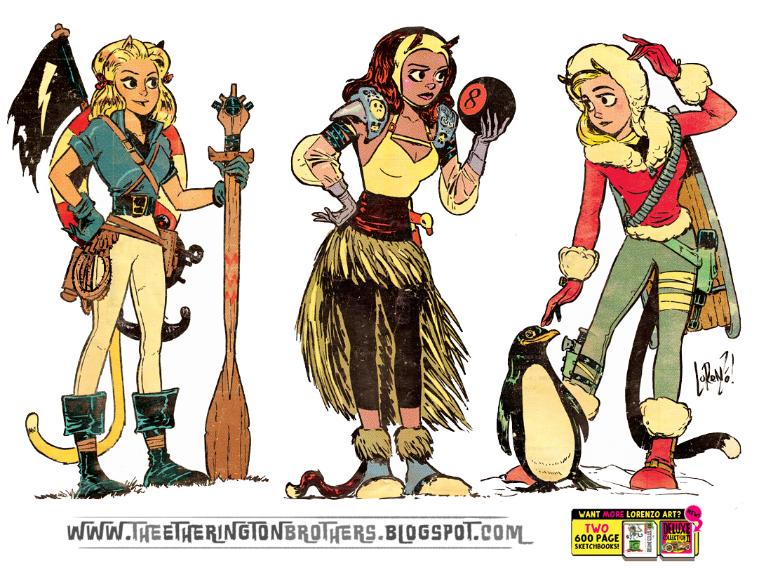 Adventure Girls set 1 by EtheringtonBrothers