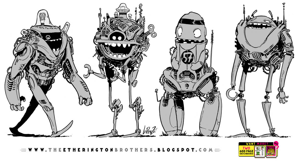 4 Friendly Robots by EtheringtonBrothers