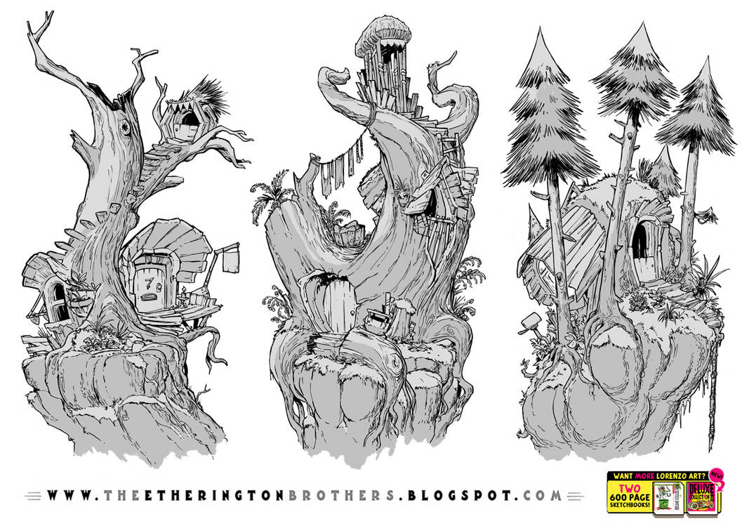 3 Tree House Concepts by EtheringtonBrothers
