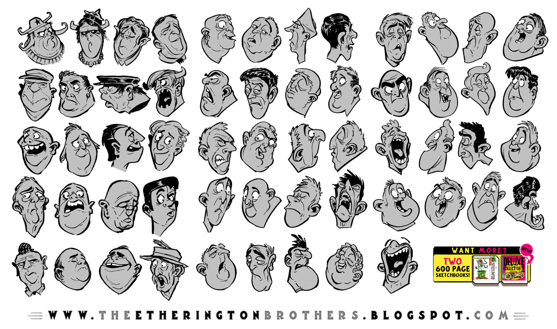 62 Character Design and Expression References by EtheringtonBrothers