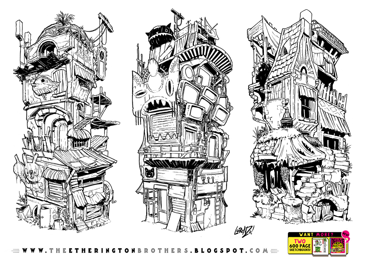 3 STACKING BUILDING concepts by STUDIOBLINKTWICE