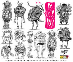 12 Junk and Trash Monster Robot Design Concepts by EtheringtonBrothers