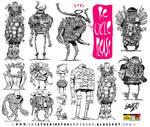 12 Junk and Trash Monster Robot Design Concepts