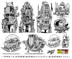 7 Rocket and Space Ship designs and concepts by EtheringtonBrothers
