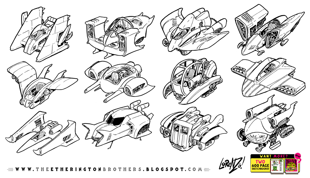 12 speeder hovership designs and concepts by EtheringtonBrothers
