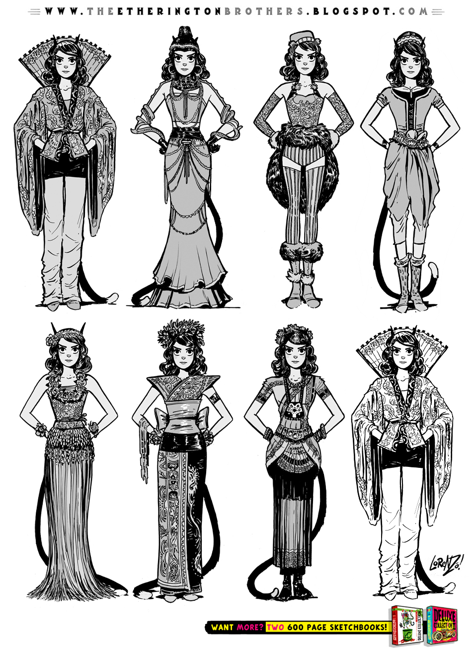Character Costume Design Tips : Female character costume design concepts part by
