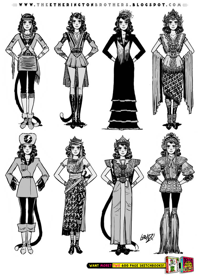 Female Character Costume Design Concepts Part 2 by EtheringtonBrothers