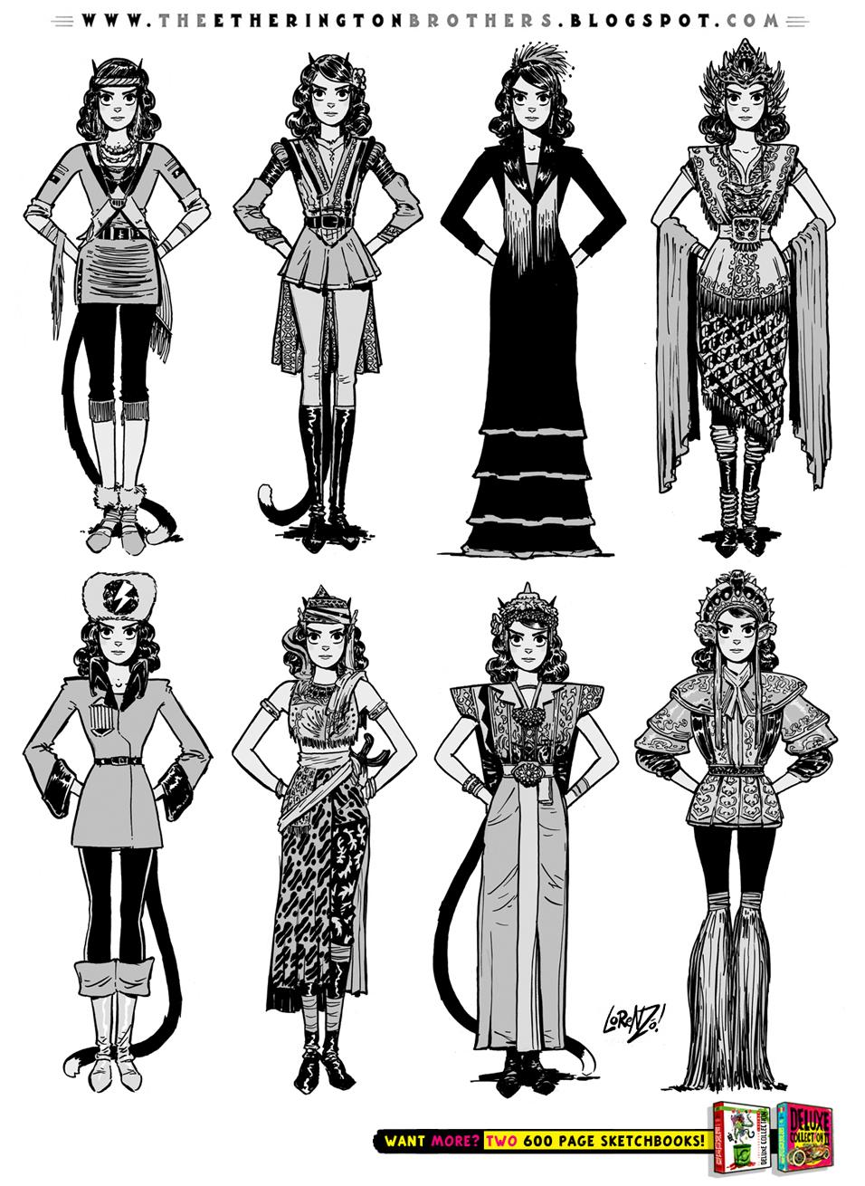 Character Costume Design Tutorial : Female character costume design concepts part by