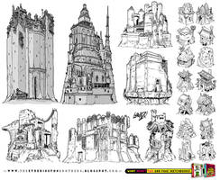 21 CASTLE and FORTRESS concept designs by EtheringtonBrothers