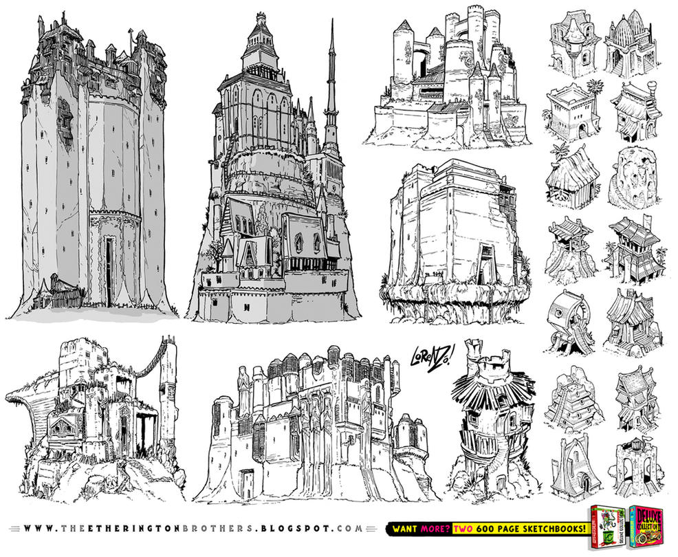 21 castle and fortress concept designs by studioblinktwice - Traditional Castle 2016