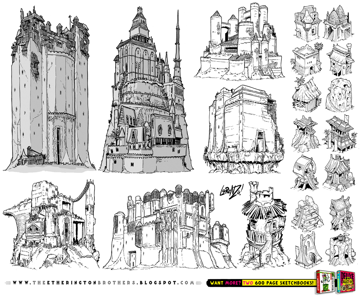 21 CASTLE and FORTRESS concept designs