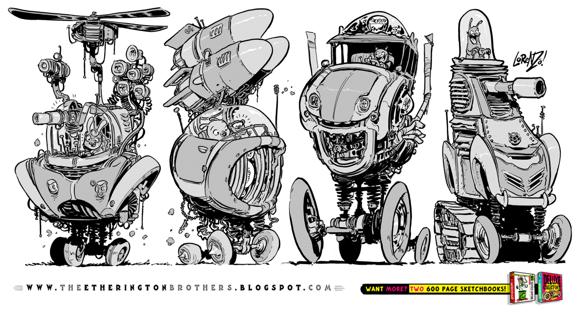 4 Weird Battle Vehicle concepts SERIES TWO by STUDIOBLINKTWICE