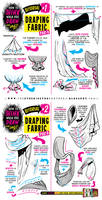 How to draw FABRIC CREASES CLOTHING FOLD tutorial
