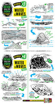 How to draw WATER WAVES SEA SPLASHES tutorial