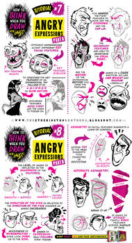 How to draw ANGRY FACIAL EXPRESSION CHARACTERS by EtheringtonBrothers